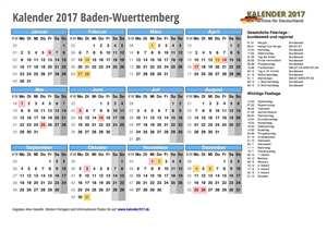 Kalender 2017 Baden-Wuerttemberg