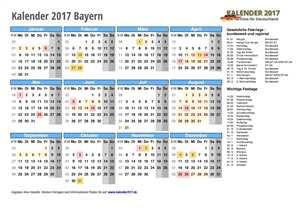 Kalender 2017 Bayern Schulferien