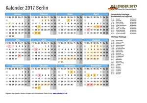 Kalender 2017 Berlin Schulferien