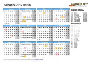 Kalender 2017 Berlin