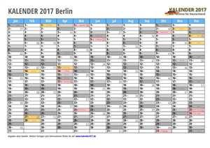 Kalender 2017 Berlin Monate