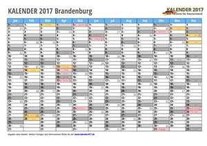 Kalender 2017 Brandenburg Monate