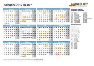 Kalender 2017 Hessen Schulferien