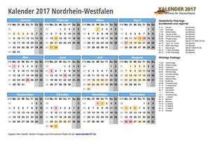 Kalender 2017 NRW Schulferien