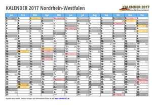 Kalender 2017 NRW Monate