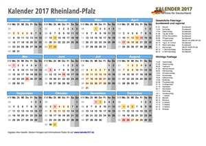 Kalender 2017 Rheinland-Pfalz Schulferien