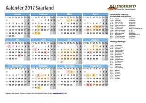 Kalender 2017 Saarland Schulferien