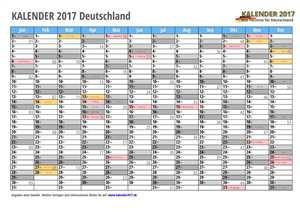 Kalender 2017 Vorlage 2